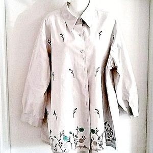 Women's Over-sized Beige Shirt Sz 1X